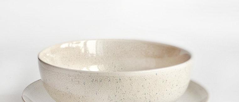 Warm Sand Plate & Bowl Set