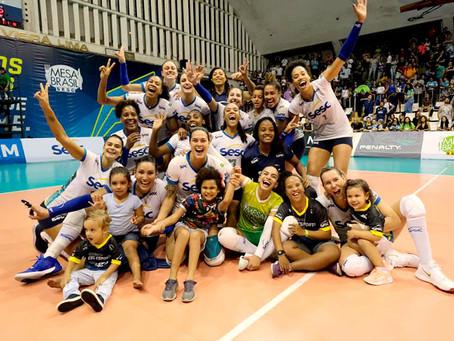 Sesc-RJ vence Flamengo e conquista o título do Carioca de Vôlei feminino