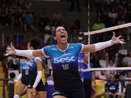 Tandara brilha em conquista do Sesc na Copa Brasil de vôlei