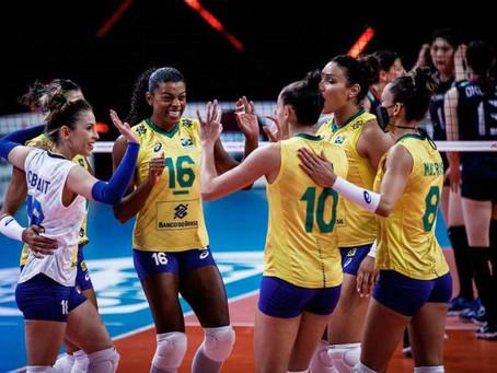 Seleção Feminina de Vôlei vence o Japão pela Liga das Nações