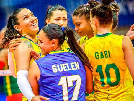 Brasil passa fácil por Camarões e estreia com vitória no Pré-Olímpico feminino de vôlei