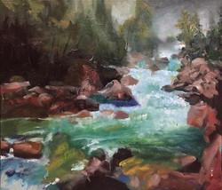 流水_Flowing _oil on canvas _46x38cm