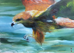 巡_Hunting _oil on canvas _23x34cm