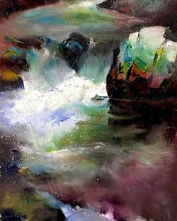 涼一夏_Summer time _oil on canvas _24x33cm
