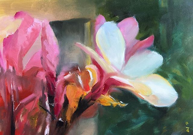 小花_Lily _oil on canvas _23x34cm