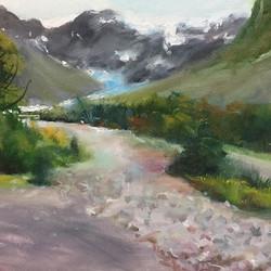 冰河融化_Glacier _oil on canvas _23x34cm
