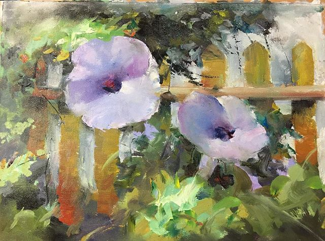 牽牛花_Morning glory _oil on canvas _24x33cm