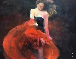 火焰_Flames_Oil on canvas _31x41cm