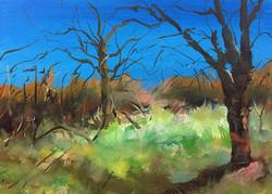 枯夏_Late Summer time_Oil on canvas _24x33cm