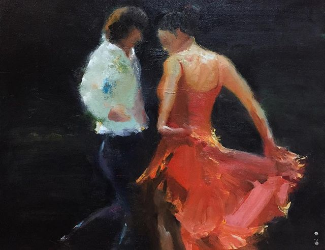 舞_Dancing _oil on canvas _31x41cm