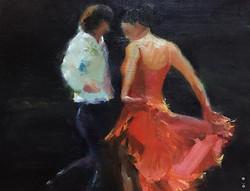 舞_Dancing _oil on canvas _31x41cm