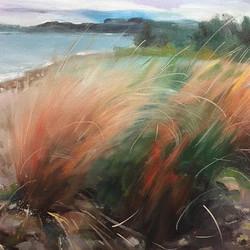 湖畔_Lake side _oil on canvas _23x34cm