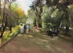 踏青_Searching for the green_oil on canvas _24x33cm