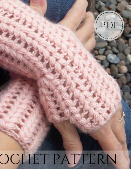 Gauntlets - crochet pattern - Instant PDF download