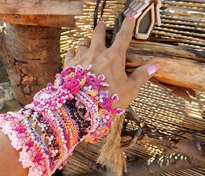 Artisan Crochet Beaded Bracelet