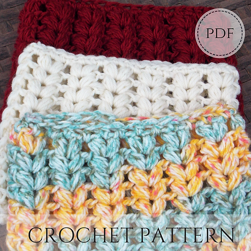 Puffy V-Stitch Cowl, crochet pattern, pdf digital download