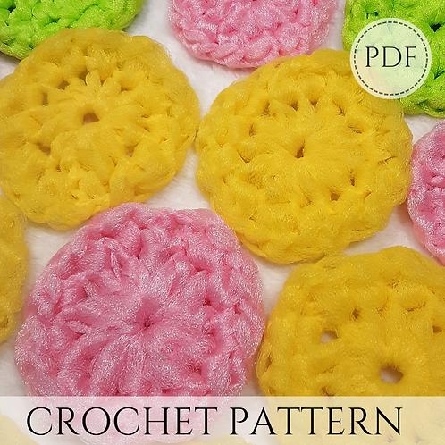 Dish Scrubbie Pattern pdf and video tutorial