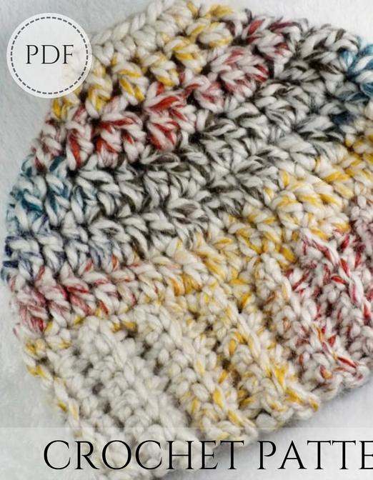 Bun Beanie crochet PDF pattern