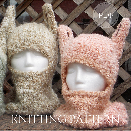 Llama Hat - knitting pattern - pdf download