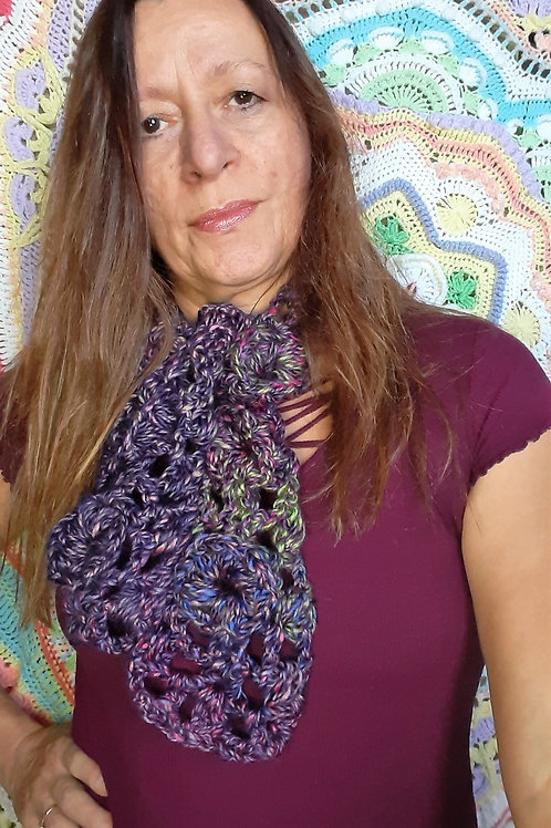 Flower Puff Scarf pdf download and video tutorial