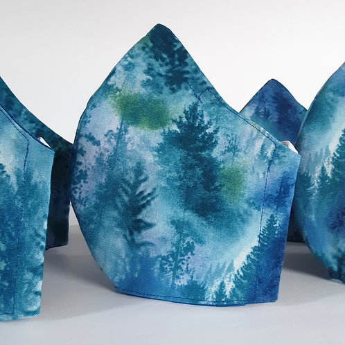 Blue Forest Face Mask