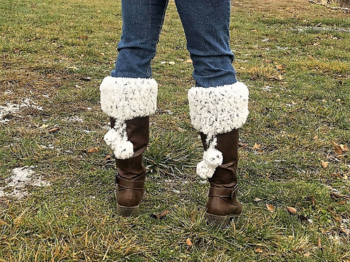 Faux Fur Boot Cuffs, crochet pattern