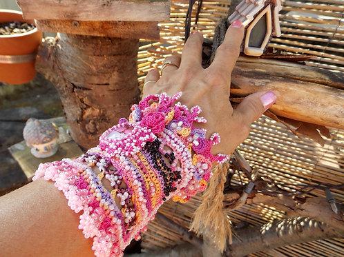 Pink Bohemian Cuff