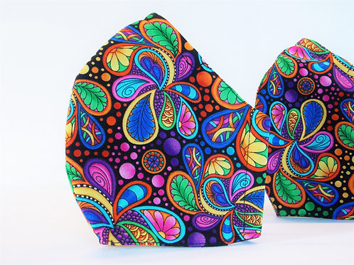 Funky Paisley Face Mask