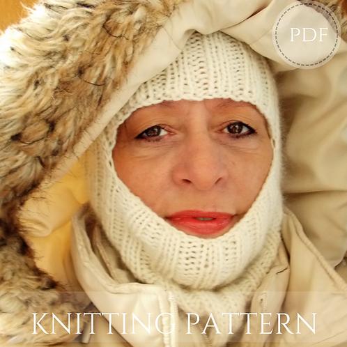 Balaclava knitting pattern, pdf