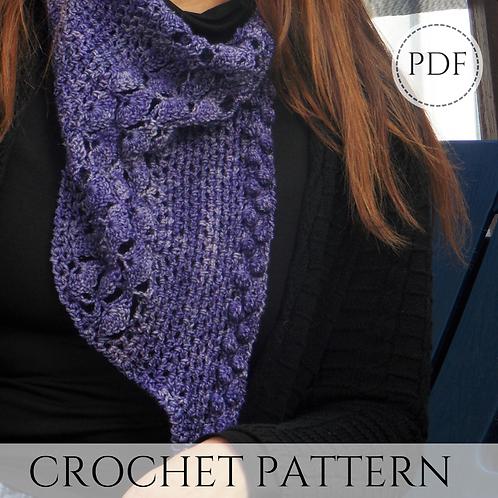 Flower Princess Cowl, Bandana Scarf, pdf download and video tutorial