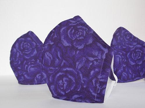 Purple Rose Face Mask