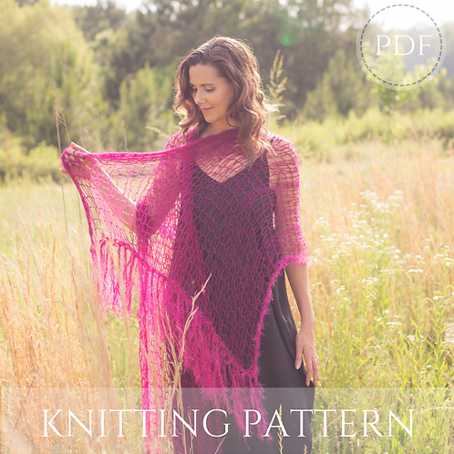 Diva Shawl - knitting pattern - PDF download
