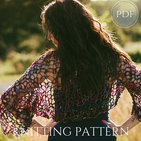 Sari Silk Shrug knitting pattern - instant digital download pdf
