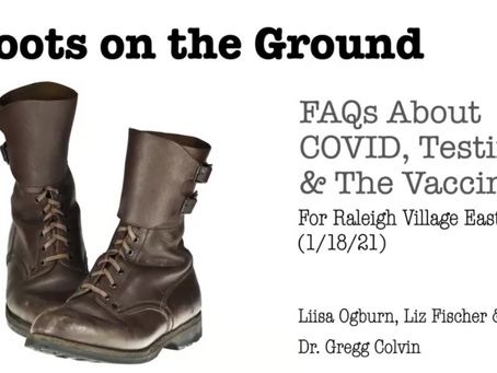 """Video: """"Boots on the Ground: FAQs about COVID, Testing & the Vaccine"""""""