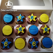 Blue and Yellow Cupcakes .png
