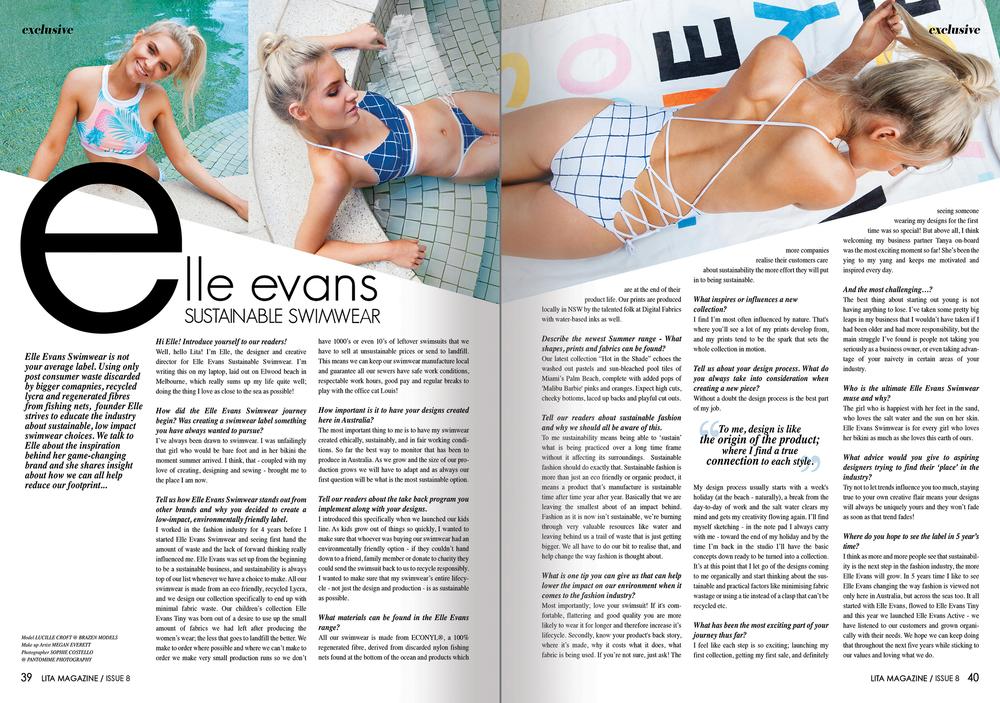Elle Evans Swimwear SS15