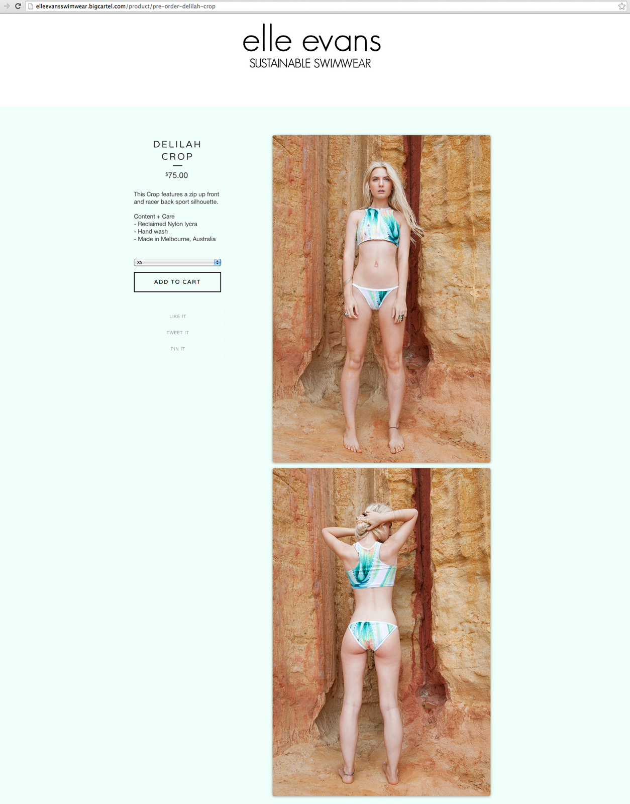 Elle Evans Sustainable Swimwear