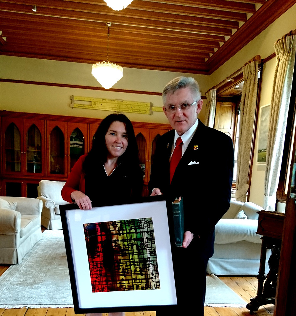 Angela Gilmour and UCC President Professor O'Shea