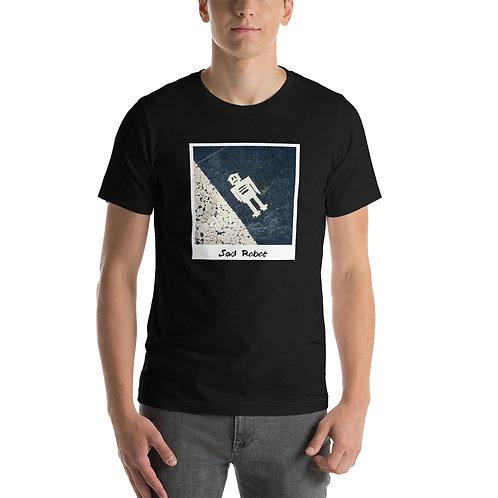 Sad Robot Short-Sleeve Unisex T-Shirt