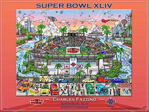 Super Bowl XLIV Poster Print by Charles Fazzino