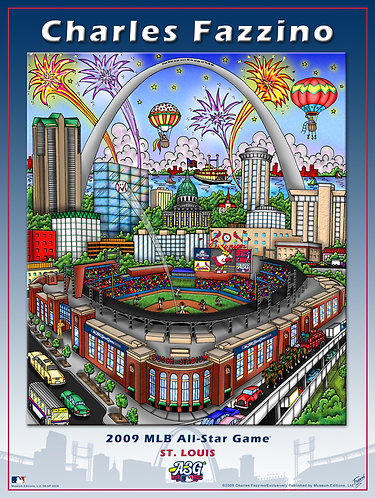 2009 All-Star Game St. Louis Poster Print by Charles Fazzino