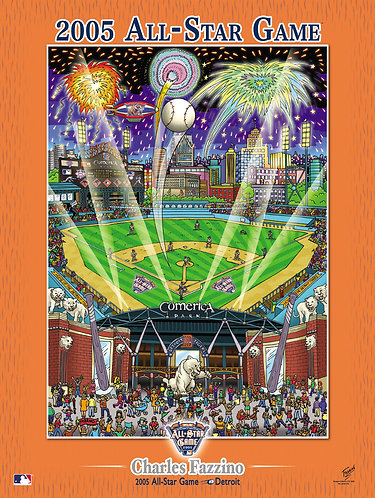 2005 All-Star Game Detriot Poster Print by Charles Fazzino