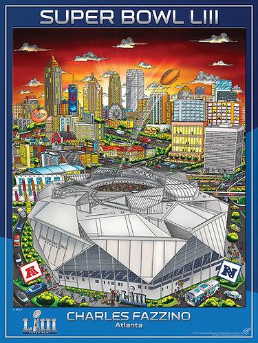 Super Bowl LIII Poster Print by Charles Fazzino