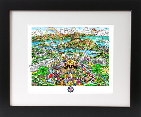 Rio Olympic Games 3-D Mini Print