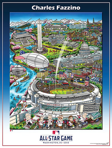 2018 All-Star Game D.C. Poster Print by Charles Fazzino