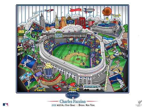 2008 All-Star Game New York Poster Print by Charles Fazzino