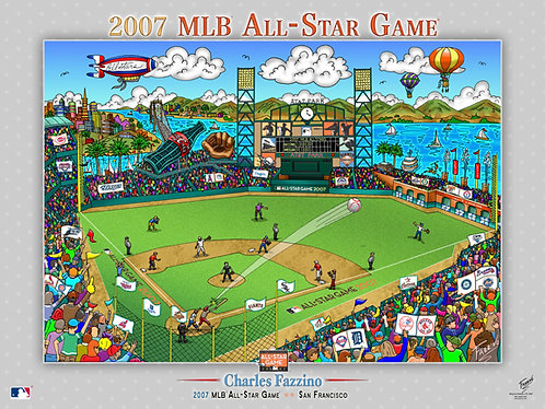 2007 All-Star Game San Francisco Poster Print by Charles Fazzino