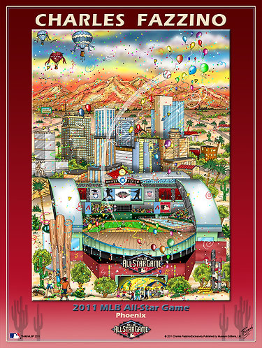 2011 All-Star Game Phoenix Poster Print by Charles Fazzino