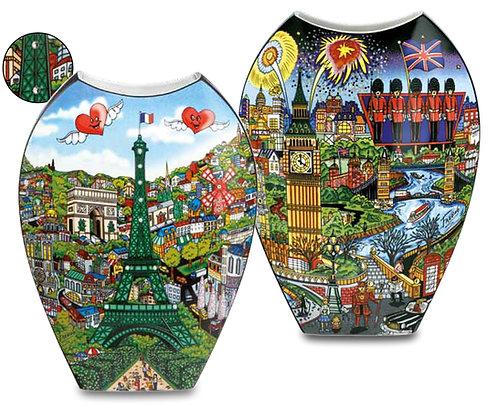 Pop Art Come Visit Me in Paris/The Lights of London Vase