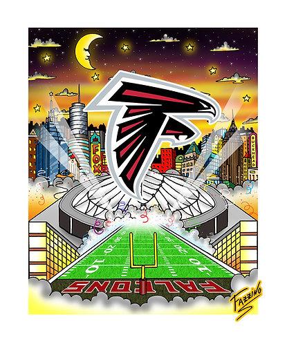 Vintage Atlanta Falcons 3-D Mini Print